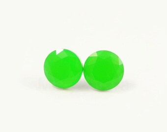 Neon Green Stud Earrings,Lime Earrings,Cute Neon Earrings,Geometric Earrings,Small Earrings (E144)