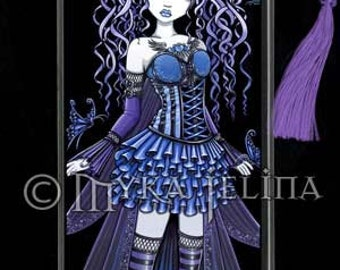 Purple Blue Fairy Couture Cute Butterfly Fae Haylee BOOKMARK