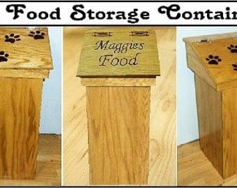 Pet food bin storage container