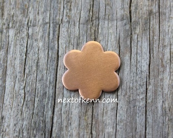 20g Copper Flower - Jewelry Blank Hand Stamping Supplies Next of Kenn Jewelry Supplies