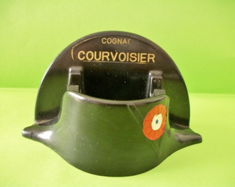 1969 - BAKELITE Ashtray - NAPOLEON 's Hat - Cognac COURVOISIER advert -Napoleon 's Bicentenary 1769-1969 - good condition- collector piece