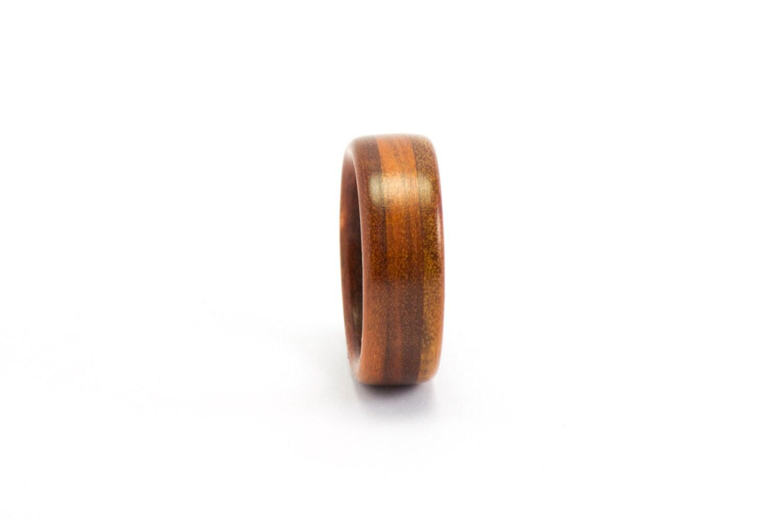 orange wood ring handmade wooden jewelry by ebeniste