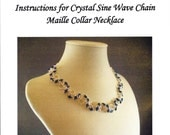 Crystal Sine Wave Chain Maille Necklace Instructions PDF