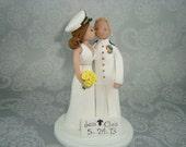 Bride & Groom Custom Made Military Cake Topper
