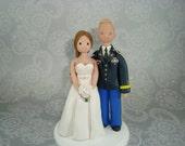 Bride & Groom Custom Made Military Wedding Cake Topper