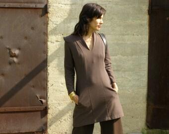 Cozy tunic- Women's tunic-dress-long sleeves tunic dress-Winter fashion-Fall fashion-Womens sweater-Zina's tunic