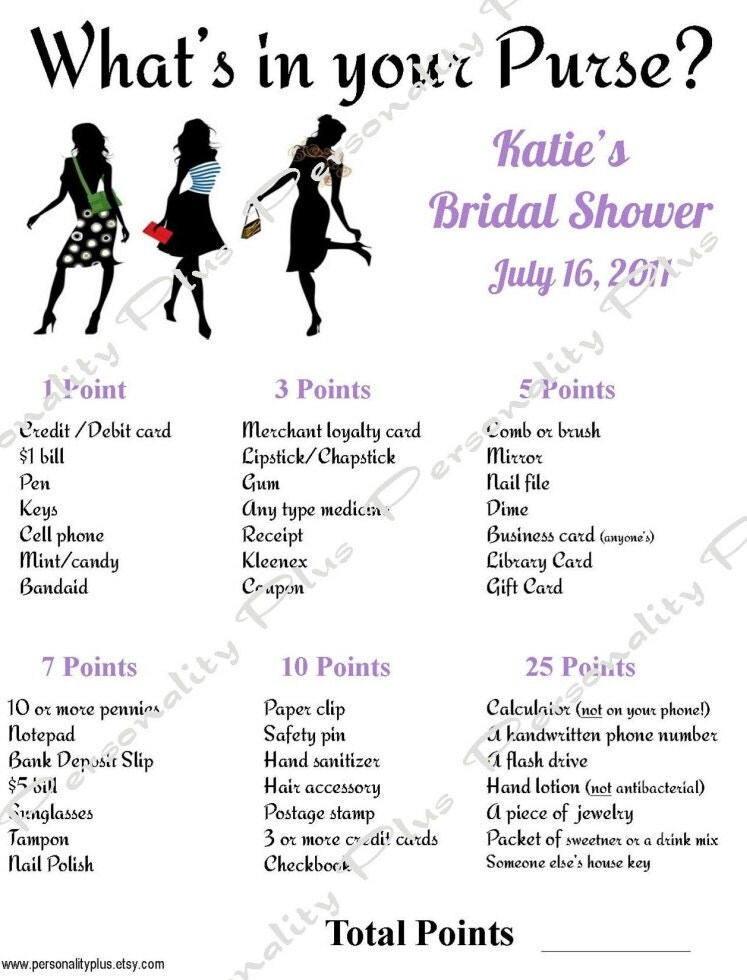 Diy personalized printable chic bridal shower by personalityplus