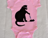 Cat Scientist - Mouse Injection - Onesie, Pink - 6mo, 12mo sizes