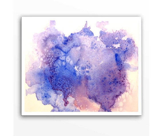 Color Block Watercolor Painting Print By Watercolorbymuren
