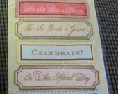 Woven Fabric Wedding Labels by Anna Griffin - Self-Adhesive - Cards - Tags - Gifts -Scrapbooks - FREE Shipping
