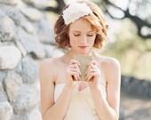 Bridal Headpiece, Hat, Pearls, Silk Flower, Floral - Style 204