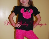 Minnie Mouse Birthday or Vacation Outfit - I love ruffles Minnie Set