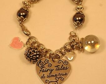 Fairy Tales Do Come True Charm Bracelet , Frog Prince Charm Bracelet