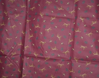 Joan Messmore~Quilting Fabric~Dogs and Ducks~1 and 1/2 Yards~Cotton Fabric