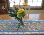 Quilted Easter Bunny with Tulips Table Runner