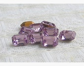8x6mm Light Amethyst Octagon Swarovski Glass Rhinestones
