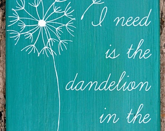 "Dandelion In The Spring (""What I Need Is The Dandelion In The Spring""-Katniss Everdeen, Mockingjay/The Hunger Games)"