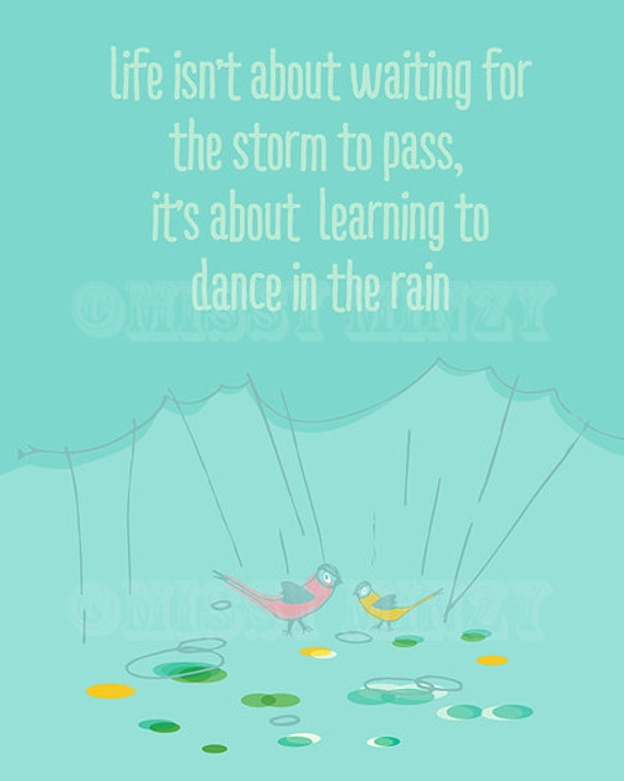 Wall Art Quotes Dance In The Rain : Items similar to dance in the rain home decor modern