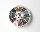 Sports Rainbow Nail Art Decor Wheel Kit 3mm football teams stars decorations nail accessories fifa basketball baseball Or scrapbooking use