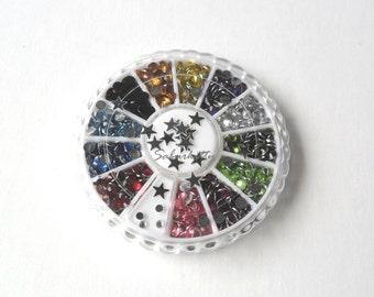 Sports Rainbow Nail Art Decor Wheel Kit 3mm football teams stars decorations nail accessories fifa basketball baseball Or scrapbooking use