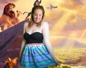 SALE Lion King Nala Simba Disney High Waisted Skirt