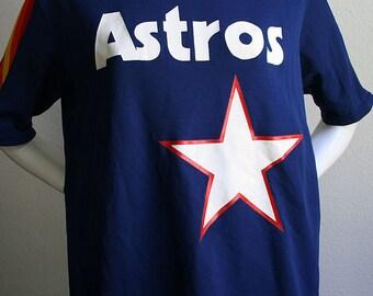 1970/80's Houston Astros J.R. Richard MLB Sand-Knit Medalist baseball nylon unisex collector jersey no. 50 -  men's sz L