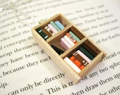 Pine Bookshelf Necklace - Book Jewelry by Coryographies (Made to Order)