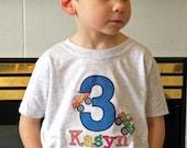 Monster Truck Shirt - Birthday Shirt - Big Number MONSTER TRUCK Birthday T-shirt - truck Shirt - personalized Truck shirt name