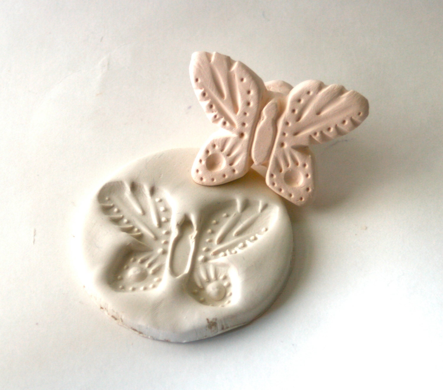 Clay Stamp Monarch Butterfly Tool For Ceramics Pottery