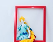 "Rapunzel fabric doll Princess stuffed toy Rapunzel toy Fabric Rapunzel Character ragdoll ECO Friendly toy OOAK, Size 16"""