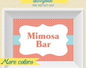 Quatrefoil Printable Party / Bar / Buffet Sign  - Your Choose Size and Colors