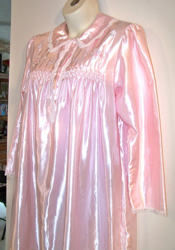 Pretty Pink 80 S Barbizon Satin Nightgown Pajama Dress