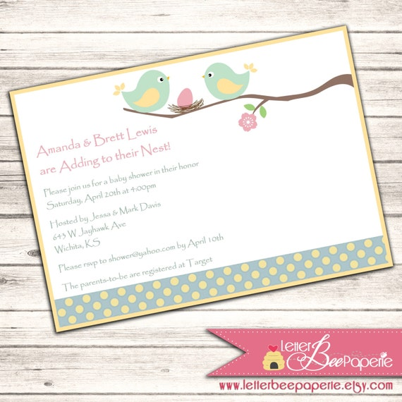 Snap april showers girls baby shower invitation by letterbeepaperie adding to the nest custom baby shower invitation printable customize your colors perfect filmwisefo