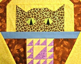 Cat Quilt Block Pattern - Lady of the Lake