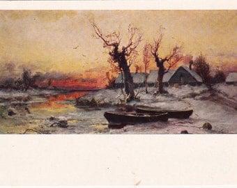 Vintage Klever (Sunset) Print - 1974. Fine Arts, Moscow
