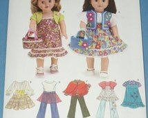 New Simplicity 18' doll Clothes Pattern 3936 OS