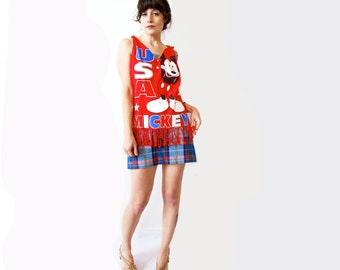 Vintage 1960s Skirt. Bobbie Brooks Plaid Mini. Size XS