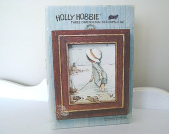 Vintage Kit - Holly Hobbie - 3D Wall Art  - Nautical - Beach - 1960's - Retro Art Kit - Wall Hanging