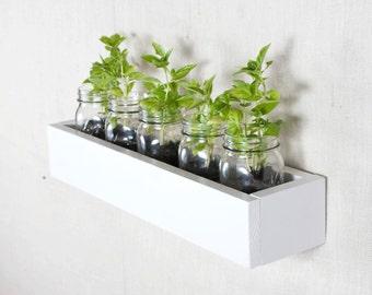 Box Shelf Wall Organizer - White - Vertical Garden, Toy Storage, Book Shelf, Bathroom Storage - 3001 Ways - 22 INCH