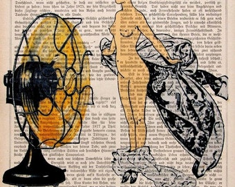 BIG NUDE  giclee print poster mixed media painting illustration drawing