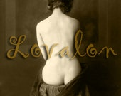 MATURE... Lovely Lines. . . Vintage Nude Photo Download... Digital Erotic Image by Lovalon