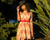 Shirley B. Good Vintage Inspired Ikat Dress - KarleenEberle