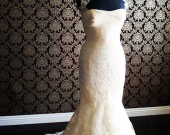 Illusion Tulle Bolero Sheerest Tulle & Lace Bolero Tuck-In Wedding Gown Insert Bridal Jacket  Lace applique by IHeartBride- Abella Estera