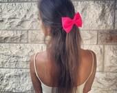 BIG Glowing pink hair bow (S-N-013)