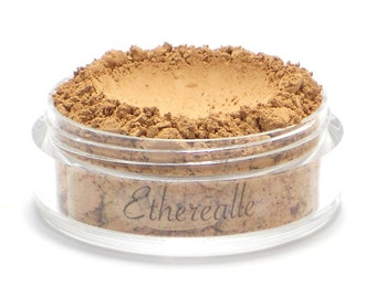 "Vegan Mineral Powder Foundation - Delicate - ""Nutmeg"" (medium shade with neutral undertone) Large Net wt 7g Jar"
