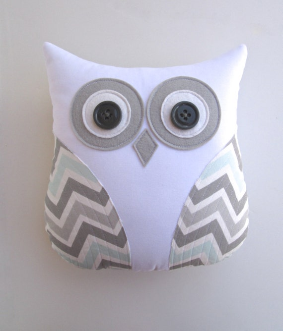 Animal Pillows For Nursery : Items similar to owl pillow, grey and blue chevron pillow, mist and gray chevron, pillow, animal ...