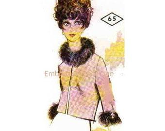 Plus Size (or any size) Vintage 1969 Evening Jacket Pattern - PDF - Pattern No 65 Krista