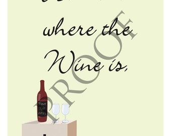Housewarming Moving Gift Unique Wine Label Custom & Personalized Available