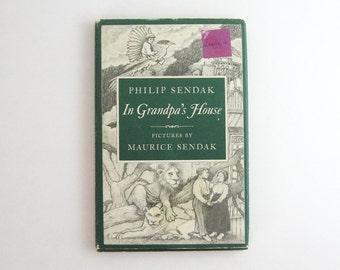 In Grandpa's House - Maurice Sendak & Philip Sendak - Vintage Illustrated Book - Childrens Storybook - UK First Edition - Father Son Book
