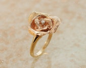 Vintage Ring - Vintage 14K Rose Gold Rose Petal Ring